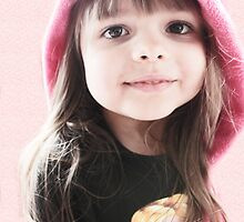Little Girl In Pink Hood by Evita
