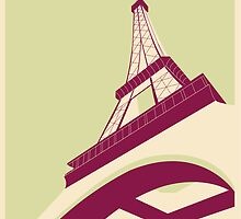 Paris - Eiffel Tower Poster by Abigail Burkle