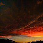 Ominous Clouds with Beautiful Sunset by Christopher Hanke