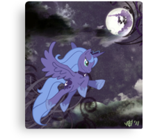 Lonely Luna Canvas Print