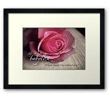 Babylost Sisters -Friendship Framed Print