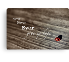 Never Ever... Canvas Print