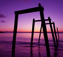 Purple Haze- Sunset at Cat Bay by 3leafpete