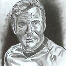 William Shatner as Captain James Kirk by WienArtist