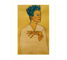 After Egon Schiele (Austria 1890-1918) 'Self Portrait with hands on chest'. 1910 © Art Print