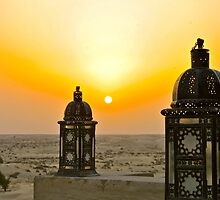 Sunset #2 - Bab Al Shams Hotel Dubai by Nick Rocco