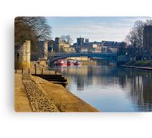 The River Ouse & Lendal Bridge - York Canvas Print