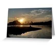 July Sunset Greeting Card
