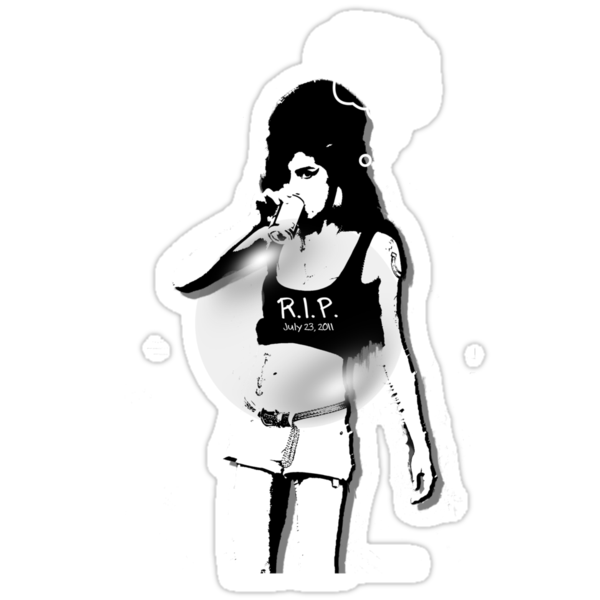 Amy Winehouse Drinking T-shirt by MOFshop