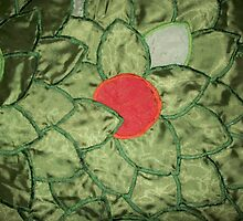 Peach Tree Quilt WIP 2 by Donna Huntriss