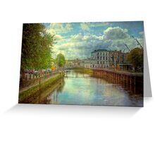A River City - Cork, Southern Ireland Greeting Card