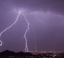 Lightning Over Phoenix by NikonLarry