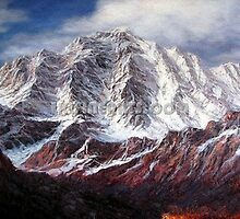 Mountain oil painting by jackie leung