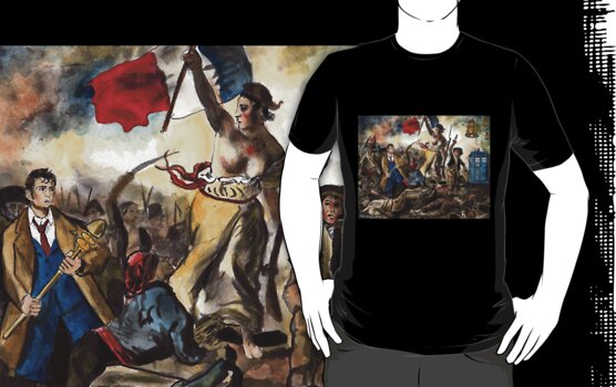 Liberty Leading the Doctor Tee by Jesse Rubenfeld