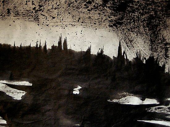 rhine.... dusk town shadows by banrai