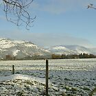 The Ochil Hills central Scotland in winter by John Butterfield