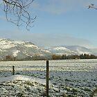The Ochil Hills central Scotland in winter by John Butterfield