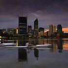 City kyaking at sunset by Jill Fisher