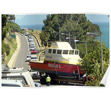 A sea rescue on the main road??! Poster