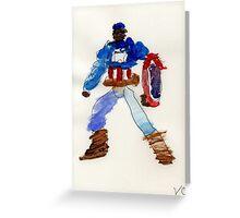 American Captain  Greeting Card