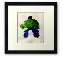 The Hunk Superhero Framed Print
