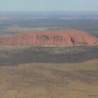 Uluru from Above by Kymbo
