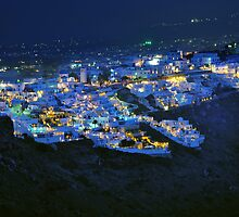 Thira at Night by Peter Hammer