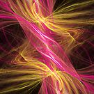 Flamingo Abstract Flame Fractal by Archetypus