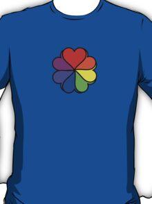 Rainbow Heart Flower T-Shirt