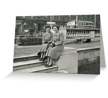 perfectly dressed, 1950s Belfast, Northern Ireland Greeting Card