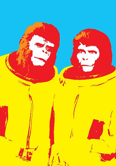 Planet of the Apes, happy couple by monsterplanet