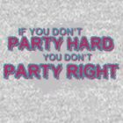 If you don't PARTY HARD you don't PARTY RIGHT! by JamieATook
