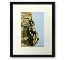 William Wallace statue at the Wallace Monument Stirling Scotland Framed Print