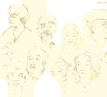 Subway faces by Laura Ewing Ferrer