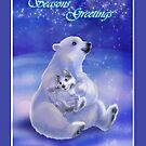 Seasons Greetings~Polar Bear Hug by murals2go