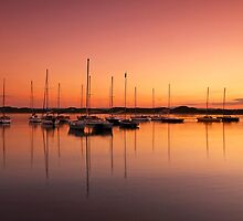 Beadnell Harbour at sunset by Darren Turner