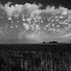 B&W Healy Kansas Thunderstorm by Troy Barrett