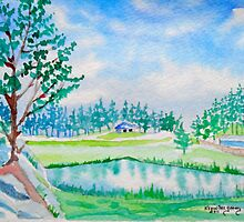 Black Hills Serenity (watercolor) by Kevin McGeeney