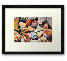 Cow Bay Rocks Framed Print