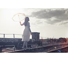 White umbrella Photographic Print