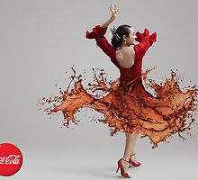 CocaCola Flamenco Dancer by Gloria Gonzalez