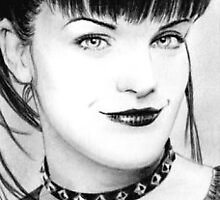 Pauley Perrette mini-portrait by wu-wei