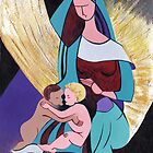 The Virgin with the Christ Child and Saint John the Baptist – Inspiration after Luini by Elisabeta Hermann