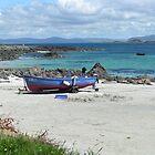 White sand beach, Iona, Scotland by John Butterfield