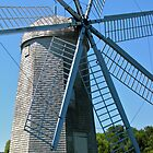 Boyd's wind grist mill by Nancy Richard