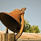 Rusted Ranch Bell by Robert  Miner