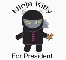 Ninja Kitty for President  by ValeriesGallery