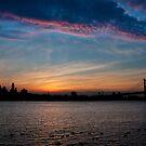 Philadelphia Skyline Silhouette by Michael Mill