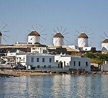 Windmills Of Mykonos by phil decocco