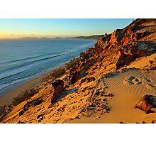 Coloured Sands at sunrise. Rainbow Beach, Queensland, Australia. Photographic Print